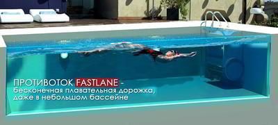 Противоток навесной 1140 м3/ч (380 B) Fastlane Endless Pools
