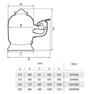 Фильтр песочный c боковым подключением 30 м3/ч Pro Side Hayward