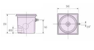 Регулятор уровня, ABS-пластик А007 IML