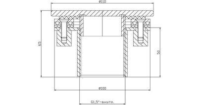 Форсунка подключения пылесоса, плитка, нерж. ст. AISI-304 Xenozone