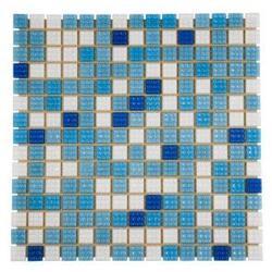 Мозаика стеклянная Mix Bahama светлая вариант 1