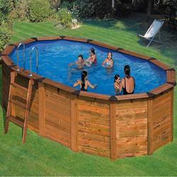 Бассейн овальный 610х375х132 см (дерево) Dream Pool Gre