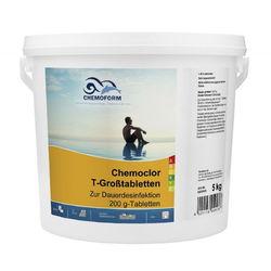 Кемохлор-Т медленнорастворимый стабилизированный хлор 90% в таблетках 200гр.,  5 кг