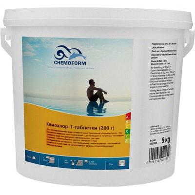 Кемохлор-Т медленнорастворимый стабилизированный хлор 90% в таблетках 200гр., 50 кг