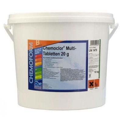 Многофункциональные 3 в 1 медленнорастворимые стаб. таблетки хлора 80%,  20гр., 10 кг