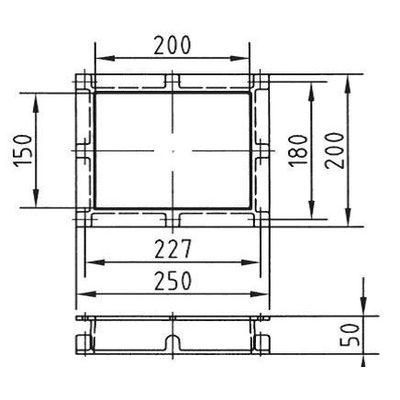 Удлинение горловины скиммера на 50 мм, бронза, в комплекте с прокадкой и винтами