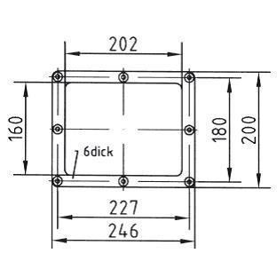 Комплект фланца скиммера для плен. басс., 2-составной, накладка нерж.сталь