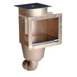 """Скиммер 240 мм с 1 выходом, вн. р. 2"""", бронза для соленой воды"""