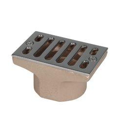 """Всасывающая форсунка переливного желоба, 100 х 60 мм, 2"""" вн.р., бронза/накладка-NiSn (для соленой во"""
