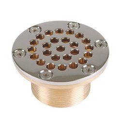 """Всасывающая форсунка переливного желоба, D 92,5 мм, длина 40 мм, 2"""" наружная резьба,  бронза/накл."""