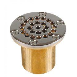 """Всасывающая форсунка переливного желоба, D 92,5 мм, длина 70 мм, 2"""" н.р., 1 1/2 вн.р., бронза/накл.-"""