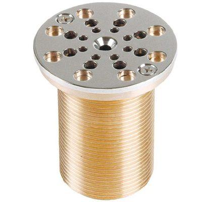 Всасывающая форсунка переливного желоба, D 66 мм, длина 70 мм, 1 1/2 н.р., бронза/накл.-NiSn