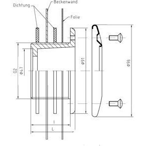 """Форсунка донного пылесоса 2"""" н.р., длина 40 мм, для бет. басс. бронза/нерж.сталь AllFit"""