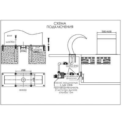 Водопад Гусак AQ-60100 AquaViva