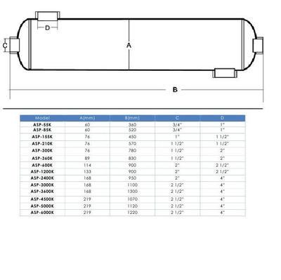 Теплообменник 45кВт ASP-155K AquaViva