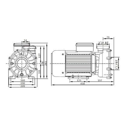 Насос 3 фазы ZS500T AquaViva