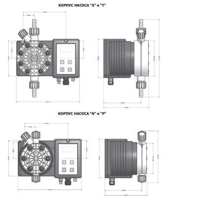 Дозирующий насос c авторегулировкой 20 л/час Cl Emec