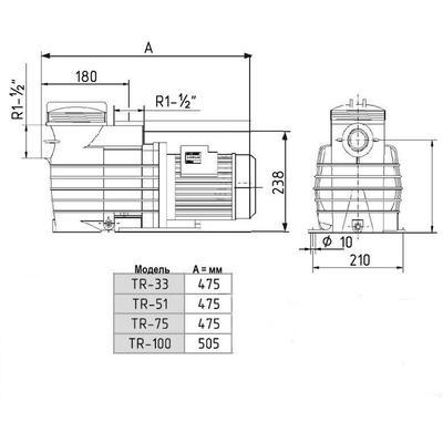 Насос Fiberpool 8,5 м3/час  TR-51(II)