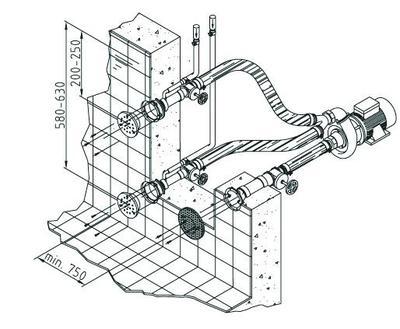 Стеновой массаж Fitstar Combi-Whirl, 2 форсунки (насосный комплект)
