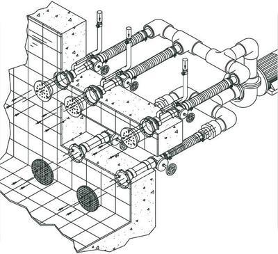 Стеновой массаж Fitstar Combi-Whirl, 3 форсунки (насосный комплект)