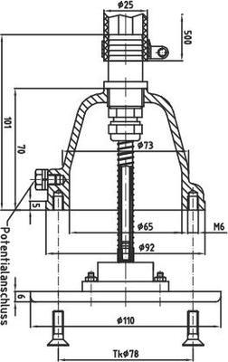 Пневмокнопка для бассейна Fitstar (бронза/нерж. сталь)