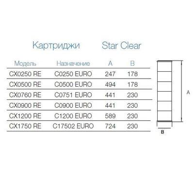 Картридж сменный для фильтров Star Clear CX0250 RE Hayward
