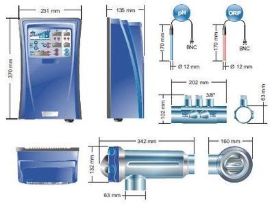 Преобразователь соли в хлор на 12 г/час и контроль ORP/Рн Domotic Idegis