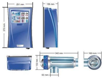 Преобразователь соли в хлор на 12 г/час Domotic Idegis