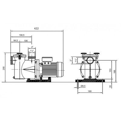 Насос Kripsol Ninfa NK-33, с префильтром, 8,4 м3/час, 0.36 кВт, 220В