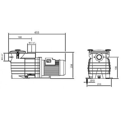Насос Kripsol Ondina ОK-71, с префильтром, 11,9 м3/час, 0.75 кВт, 220В