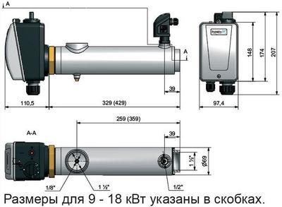 Электронагреватель 3 кВт Pahlen нерж. сталь