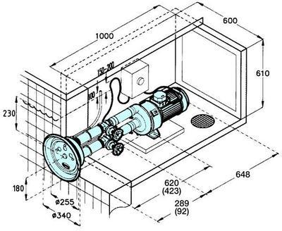 Противотечение Jet-Swim 1200 комплект 54м3/ч