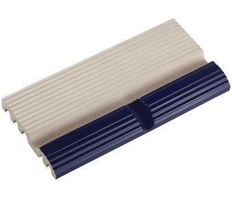 Поручень фарфоровый прямоканальный со сливом кобальт 250x125x20 мм Pera Seramic