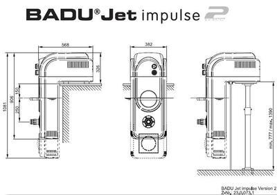 Противоток навесной BADU Jet Impuls 40 м3/ч, 220В