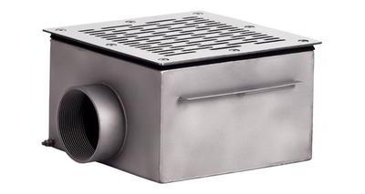 Донный слив квадратный 200х200х120 мм, плитка, нерж. AISI-304 Xenozone