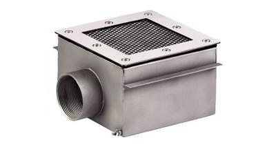 Донный слив квадратный сетчатый 250х250х120 мм, пленка, нерж. AISI-304 Xenozone