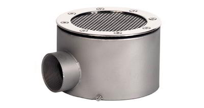 Донный слив круглый сетчатый 165х100 мм, плитка, нерж. AISI-304 Xenozone