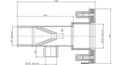 Форсунка гидромассажная, 7м3/ч, 146 мм, нерж. сталь AISI-316 Xenozone