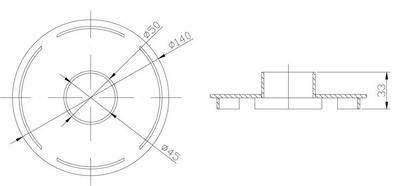 Насадка к скиммеру для подключения пылесоса, AISI-304 Xenozone