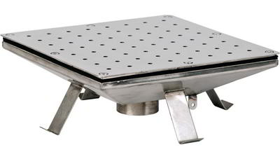 Плато аэромассажное 400х400 мм, плёнка, нерж. AISI-304 Xenozone