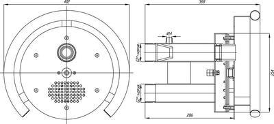 Противоток с сенсорной пъезокнопкой 50 м3/час Xenozone