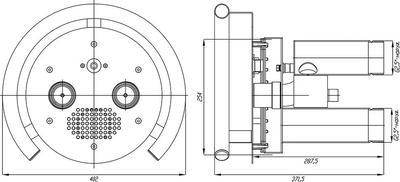 Противоток с сенсорной пъезокнопкой 75 м3/час Xenozone
