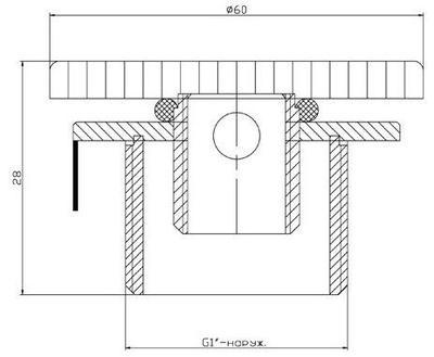 """Регулятор воздуха д.65, G1"""" НР, нерж. AISI-304 Xenozone"""