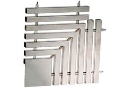 Решетка перелива угловая ширина 295-335 мм, высота 19-35 мм, AISI-304 Xenozone
