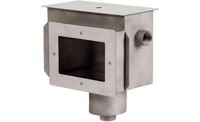 Скиммер с камерой долива и переливным желобом, пленка, AISI-316 Xenozone