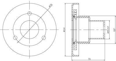 Светильник светодиодный D=114 мм, 5Вт/12В, белое свечение, AISI-304 Xenozone