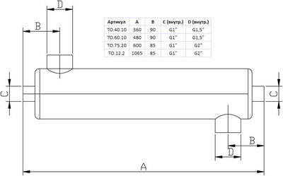 Теплообменник вертикальный 60 кВт Xenozone