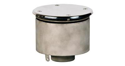 Водозабор с антивихр. крышкой д.165х100, плитка, нерж. AISI-304 Xenozone