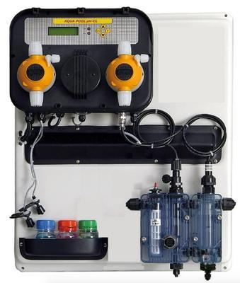 Станция контроля и дозации PH/Cl 10 л/ч на панели A-POOL SYSTEM Aqua