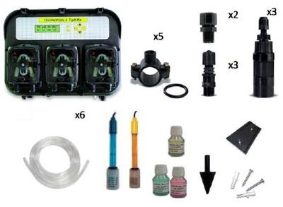 Станция контроля и дозации PH/Rx/Timer 1,4 л/ч TECHNOPOOL 3 Aqua